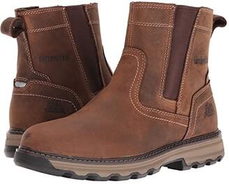 Caterpillar Pelton (Dark Beige) Men's Work Pull-on Boots