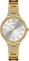 GUESS Women's Gold-Tone Stainless Steel Bracelet Watch 35mm U0900L2