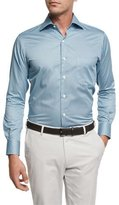 Peter Millar Pandora's Box Cotton Sport Shirt, Light Blue