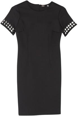 T Tahari Caged Studded Sleeve Sheath Dress