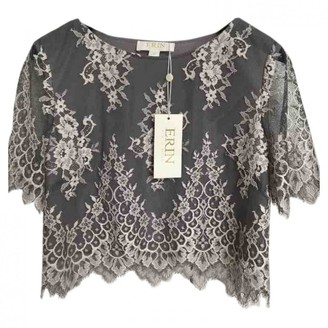 Erin Fetherston Grey Cotton Top for Women