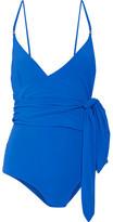 Stella McCartney Wrap Swimsuit - Bright blue
