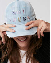 Express not yours distressed denim baseball hat