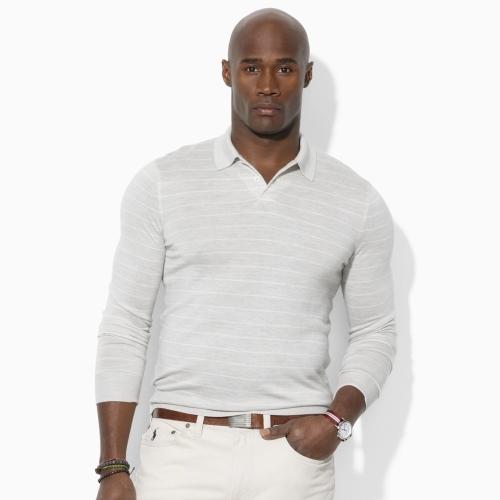 Polo Ralph Lauren Big & Tall Striped Polo Sweater