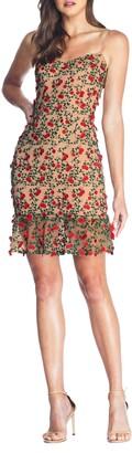 Dress the Population Kaya Embroidered Minidress