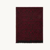 Maje Leopard print scarf