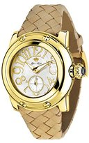 Glam Rock Women's summerTime 40mm Brown Leather Band Gold Plated Case Swiss Quartz MOP Dial Watch GR40037