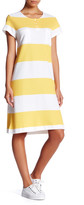 Joan Vass Stripe Pique Dress (Petite)