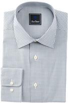 David Donahue Long Sleeve Regular Fit Check Dress Shirt