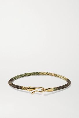 OLE LYNGGAARD COPENHAGEN Life 18-karat Gold And Rope Bracelet - M