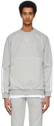 adidas Grey Outline Crewneck Sweatshirt