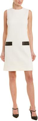 Michael Kors Wool-Blend Shift Dress