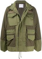 Sacai contrasting-panel light jacket
