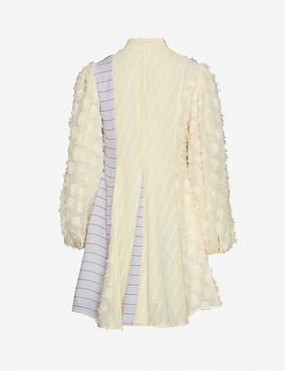 Stine Goya Vico contrast-panel crepe mini dress