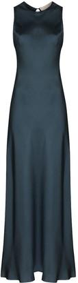 ASCENO Valencia sleeveless silk maxi dress