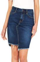 Mavi Jeans Montana Mid Rise Frayed Hem Skirt