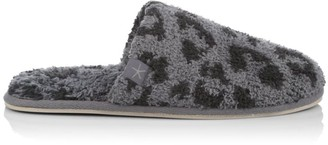 Barefoot Dreams Cozychic Leopard-Print Slippers