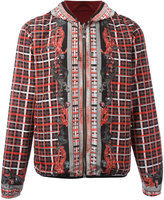 Versus checked print hooded jacket - men - Polyester/Polyamide/Spandex/Elastane - 46