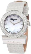 Salvatore Ferragamo Women's F56SBQ9991i S001 Gancino Mother-Of-Pearl Genuine Leather Diamond Watch