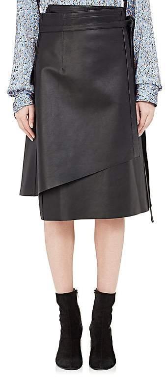 Acne Studios Women's Lakos Leather Wrap Skirt