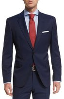 HUGO BOSS Solid Two-Piece Wool Travel Suit, Navy