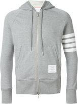 Thom Browne zipped hoodie - men - Cotton - 00