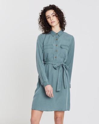 Gap Long Sleeve Pocket Shirt-Dress