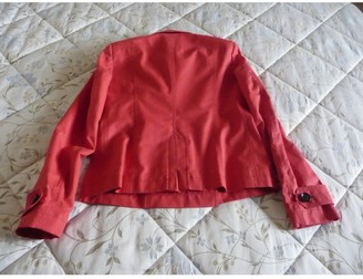 Burberry Red Cotton Trench coats