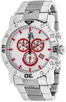 Jivago Titan JV9128XL Men's Round Silver Stainless Steel Watch