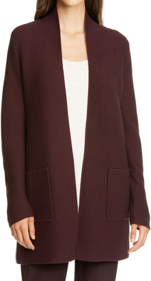 Eileen Fisher Rib Silk & Cashmere Cardigan