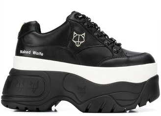 Naked Wolfe Two Tone Platform Sneakers