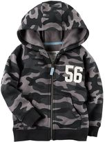 "Carter's Baby Boy Camouflaged ""56"" Zip Hoodie"