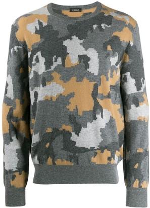 Ermenegildo Zegna Camouflage Print Jumper