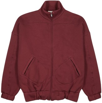 LES TIEN Burgundy cotton-jersey sweatshirt