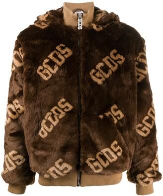 GCDS Faux Fur Logo Jacket