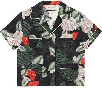 Gucci Hawaiian-print silk shirt