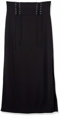 Forever 21 Women's Plus Size Lace-Up Maxi Skirt