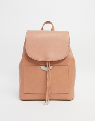 Truffle Collection Faux Leather Backpack