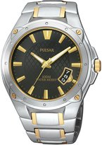 Pulsar Bracelet Collection Two-tone Steel Black Dial Men's watch #PXH825