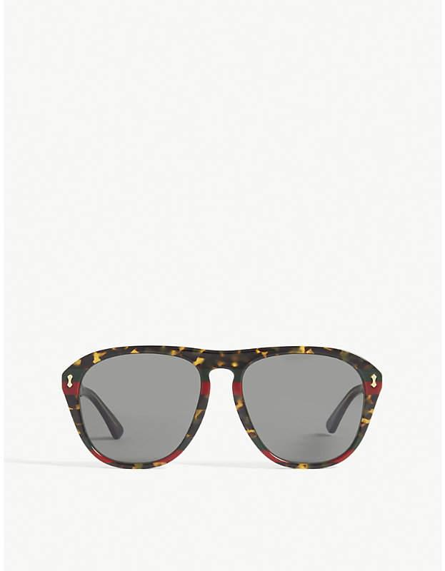 Gucci Gg0128s square-frame sunglasses
