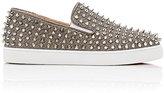 Christian Louboutin Women's Roller Boat Glitter Mesh Slip-On Sneakers