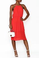 Everly Simple Chiffon Midi Dress
