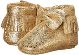Baby Deer Metallic Bow Moccasin (Infant)