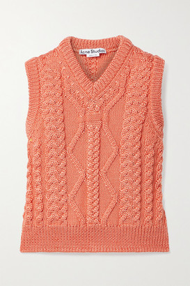 Acne Studios Cable-knit Tank - Coral