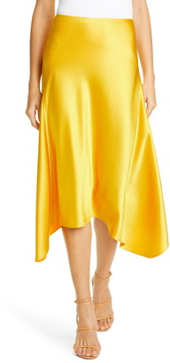 Sies Marjan Sharkbite Hem Satin Skirt