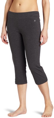 Danskin Women's Sleek Fit Crop Pant with Comfort Waistband