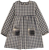 Babe & Tess Gingham Dress with Contrasting Pockets