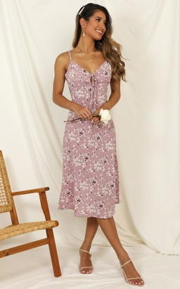 Showpo Toss The Dice dress in lilac floral - 6 (XS) The Floral Edit