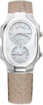 Philip Stein Teslar Women's Large Dual Time Dial Watch