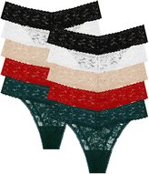 10 Pack: Free to Live Women's Lace Thong Panties